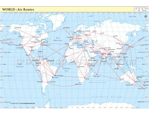 buy air route map world