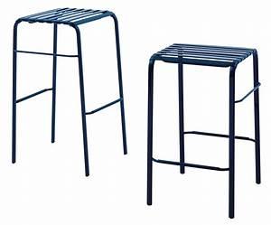 Tabouret De Bar Plastique : tabouret de bar striped h 68 cm assise plastique blanc ~ Teatrodelosmanantiales.com Idées de Décoration