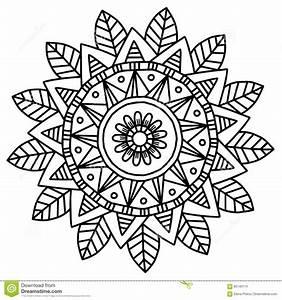 Vektorbild Fr Erwachsene Malbuch Mandala Doodle