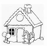 Huts Colouring Getdrawings sketch template