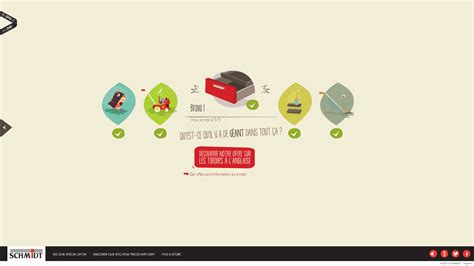 promo cuisine schmidt awesome web design of the week une cuisine astucieuse