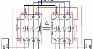 Electrical And Electronics Engineering  Automatic Transferred Switch  Ats  Circuit Diagram