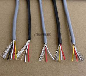 1m 24awg 2547 Ul2547 Pvc 2  3 Cores Shielded Signal Wire