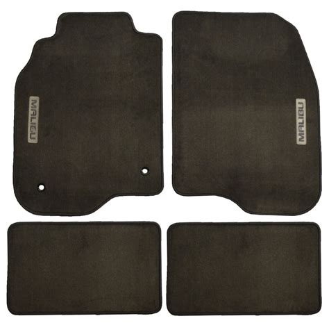 chevy malibu floor mats new logo carpeted floormats set of 4 cocoa brown color for