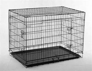 black 48quot 2 door pet cage folding dog w divider cat crate With 48 dog crate with divider