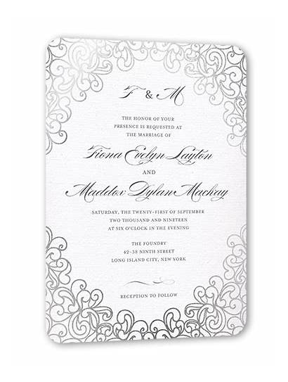 Invitation Cards Lace Invitations 5x7 Shutterfly Dazzling