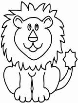 Lion Coloring Pages Animal King Forest sketch template