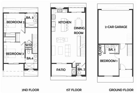 Row Home Plans by Row House Floor Plans Best Of Row House Plans