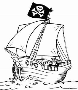 pirate ship coloring page coloringkids.org - Coloring Kids