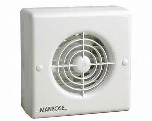 Manrose Xf100at 4 U0026quot   100mm Extractor Fan With Integral Automatic Shutter And Timer