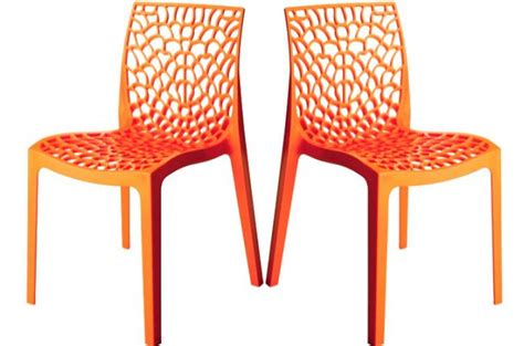 lot de 2 chaises design orange gruyer chaises design pas cher