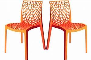 Lot De Chaises Design Pas Cher : lot de 2 chaises design orange gruyer chaises design pas cher ~ Melissatoandfro.com Idées de Décoration