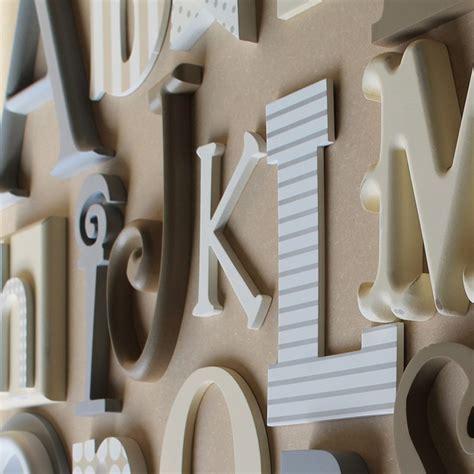 alphabet wooden wall   letters neutral mix