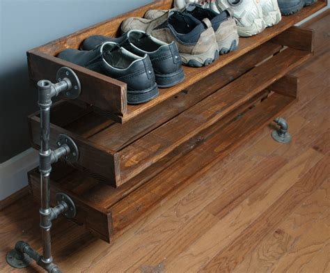 wood shoe rack beautiful pallet shoe rack for your house