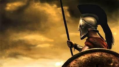 Greek Warrior Painting Warriors Epic Spartan Ancient