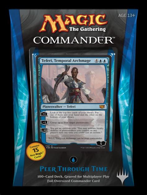Mtg Mill Deck Edh by C14 Commander 2014 Teferi Temporal Archmage The