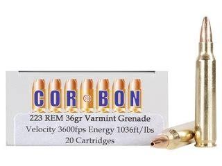 Barnes Defense by Cor Bon Self Defense Ammo 223 Remington 36 Grain Upc