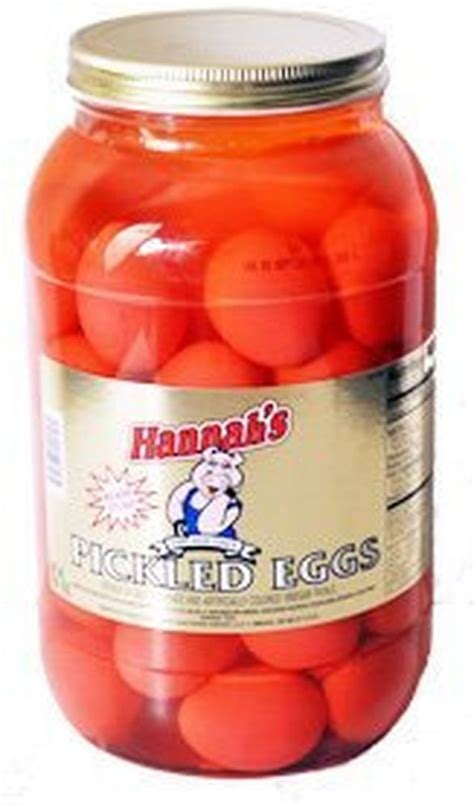 pickled eggs hannah s pickled eggs 4lb jar ebay