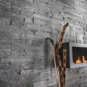 Mur En Pierre Interieur Leroy Merlin : plaquette de parement pierre naturelle gris akita leroy ~ Dailycaller-alerts.com Idées de Décoration