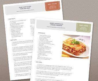 free recipe book template cookbook template free free printable templates lab