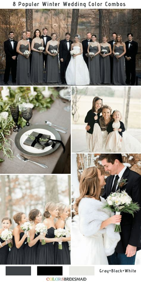 8 winter wedding color combos for 2018 colorsbridesmaid