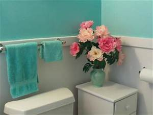 The color turquoise aqua blue walls in my bathroom for Turquoise and pink bathroom