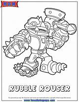 Coloring Hmcoloringpages Rouser Rubble Sheets Skylanders Check Fonts sketch template