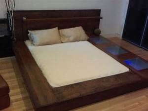 how to make a platform bed frame with storage underneath