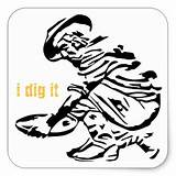 Prospector Miner Panning Gifts Drawing Zazzle Sticker Square Prospecting Getdrawings Clipartmag sketch template