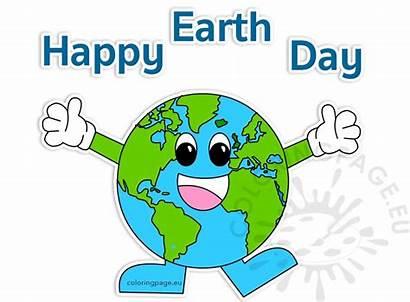Earth Happy Clipart April Coloring Coloringpage Eu