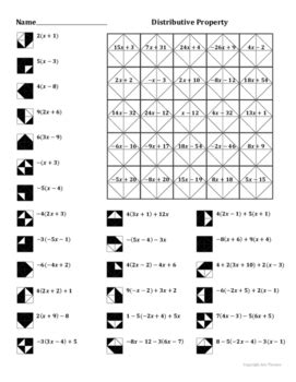 Distributive Property Coloring Worksheet By Aric Thomas Tpt
