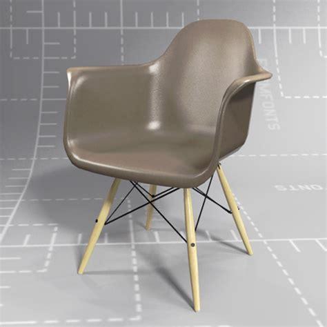 eames shell chair wooden legs 3d model formfonts 3d