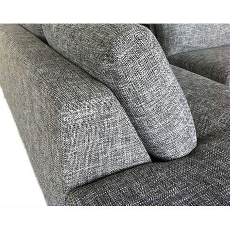 tissu pour canapé d angle canap d 39 angle tissu gris hailey