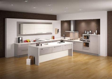 cuisine caucasienne déco cuisine blanc et chene 2716 cuisine moderne