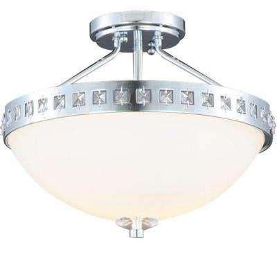 chrome semi flushmount lights ceiling lights the