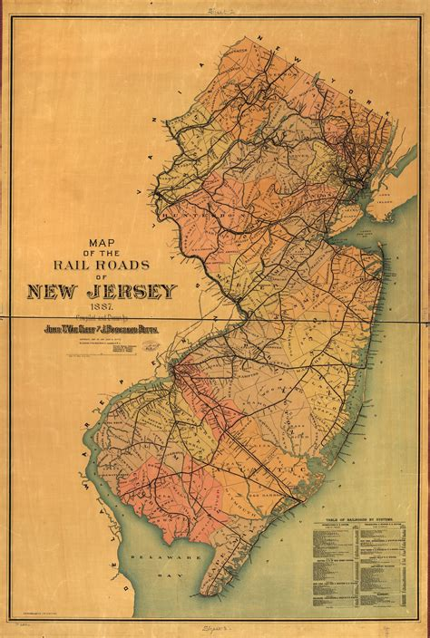 railroad maps     jersey geography  map
