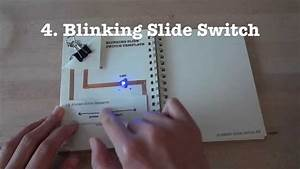 Circuit Stickers Tutorial 4  Blinking Slide Switch