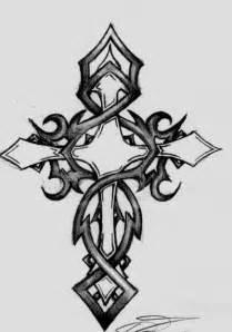 Tribal Cross Tattoo Drawings