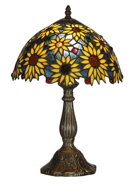 sunflower tiffany table l ls table ls meyda tiffany 47592 3 light sunflower