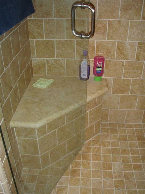 bench  master bath shower remodel built  shower