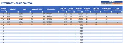inventory control spreadsheet template free excel inventory templates