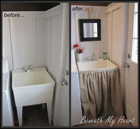 laundry tub sink skirt  inspired room