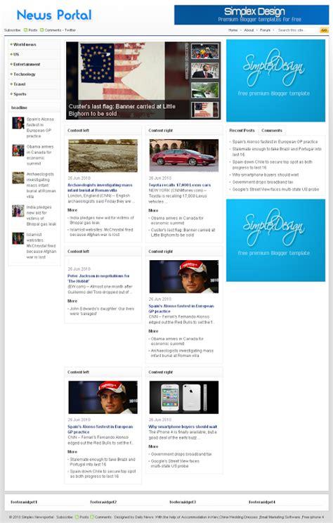 download template prtl gratis download template simplex news portal 2013
