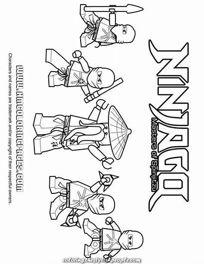 Ninjago Coloring Ninja Lego Pages Team Printable