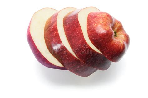 Slices Of Red Delicious Apple Stock Image - Image of fibre ...