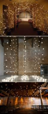 lights as ceremony backdrop wedding decoration pinpoint