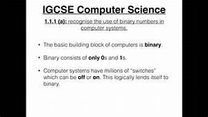 Igcse Computer Science Tutorial  1 1 1  A   U2013 The Binary