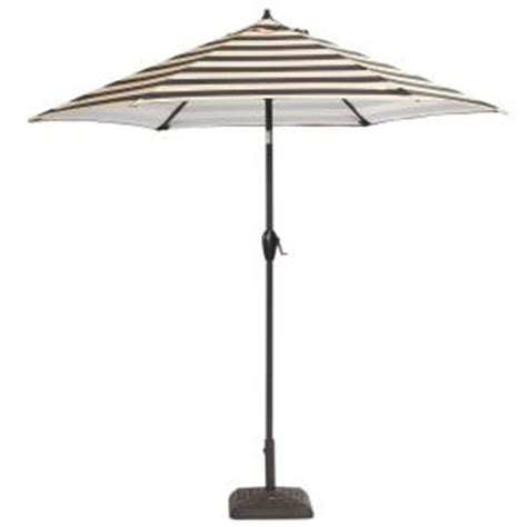 Better Homes Gardens 9 Market Umbrella Cabana Stripe hton bay 9 ft aluminum patio umbrella in black cabana