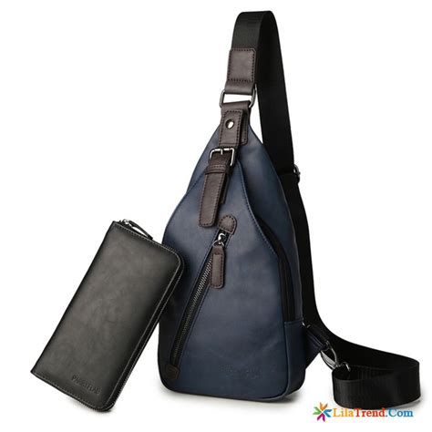 M 228 Nner Ledertaschen Braun Brustpackung Messenger Tasche