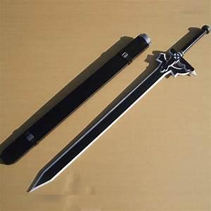 Sword Art Online Kirito Black Sword Prop (PVC, Wood, Steel)